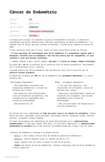 Câncer de Endométrio por RCalvano