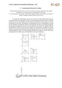 Cap 5 - Transformações Difusionais em Sólidos
