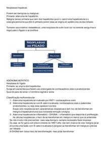 Neoplasias hepáticas patologia