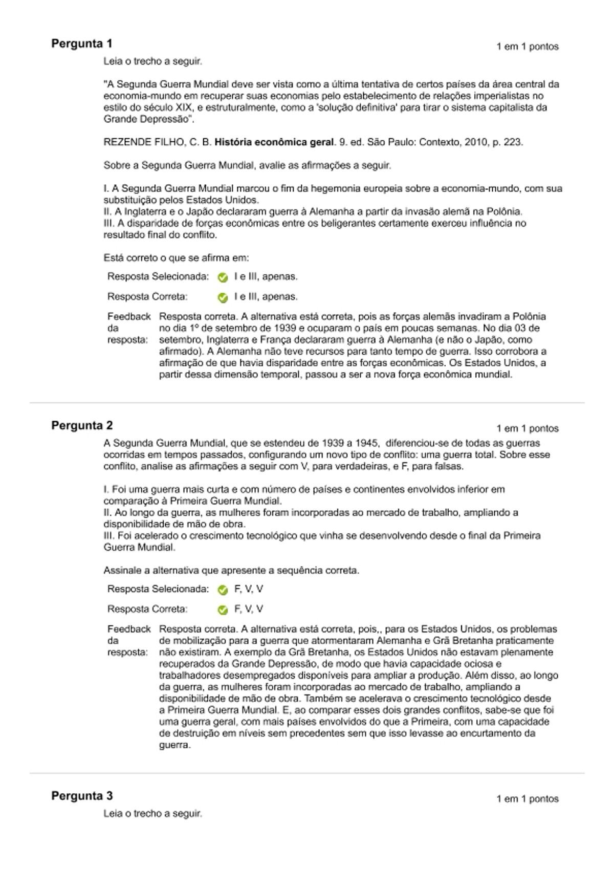 Pre-visualização do material Histórica Economica Geral - Atividade 04 - página 1