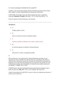 av1 e av2 praticas pedagogicas identidade docente