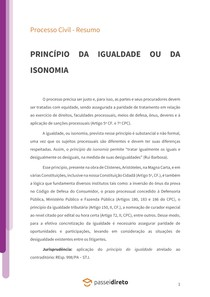 Princípio da igualdade (isonomia) - Resumo