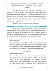 Aula 08  (TRT 21 região, Português)