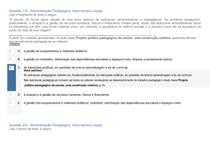 Apol  Administração Pedagógica: Instrumentos legais nota 80