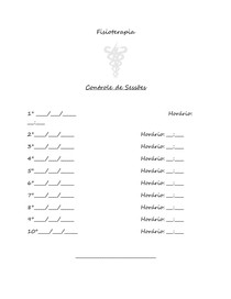 Modelo de Controle de Sessões Fisioterapia