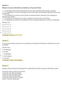sociologia aplicada exercicios 6