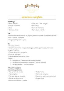Anamnese completa e exame físico pediátrico