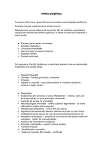 Artrite piogênica resumo