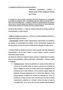A regulamentação das leis no Brasil - LICC