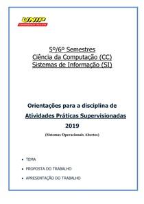 APS - 5o e 6o CCeSI - ago-2019