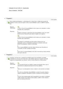 Avaliação On Line 5 (AOL 5)   Questionário Ética e Cidadania   20182.AB