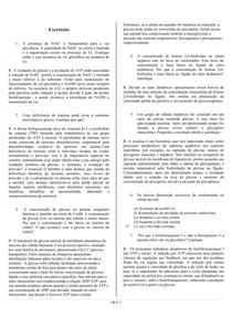 exercícios de Bioquímica