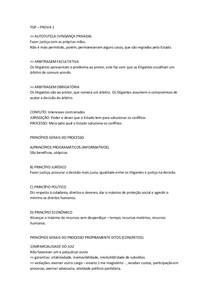 Revisão dos Princípios da Teoria Geral do Processo