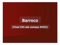 Barroco (Final XVI até começo XVIII) - Formação e contexto