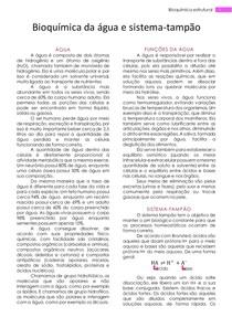 Bioquímica estrutural- Resumo