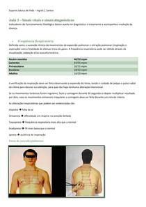 Aula 3 – Sinais vitais e sinais diagnósticos