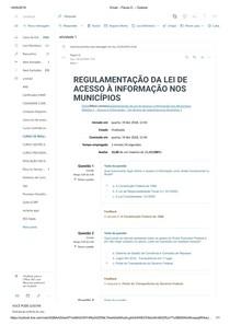 REGULAMENTAÇÃO DA LEI DE modulo 1