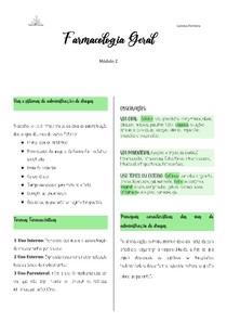 Farmacologia Geral- módulo 2