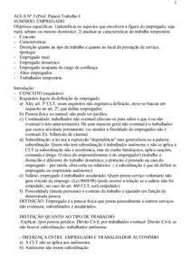 Aula_RELAÇÃO DE TRABALHO E RELAÇÃO DE EMPREGO