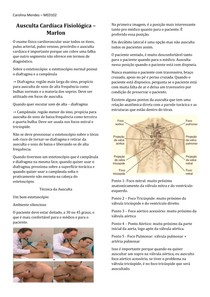 Ausculta Cardíaca Fisiológica
