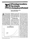 O Psicólogo Brasileiro e Sua Formação