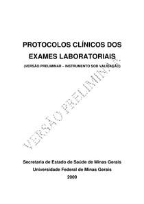 protocolos exames laboratoriais
