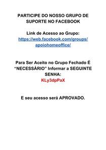 PARTICIPE DO NOSSO GRUPO DE SUPORTE NO FACEBOOK
