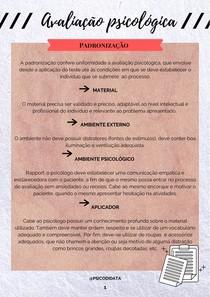 Padronização na avaliação psicológica