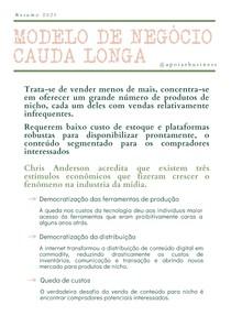 Resumo: Cauda Longa - Business Model Generation