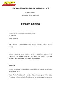 APS  Parecer Jurídico