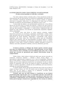 Texto sociologia - Cristina Costa