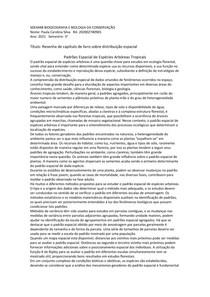 SDE4448 BIOGEOGRAFIA E BIOLOGIA DA CONSERVAÇÃO