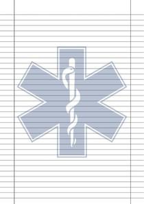 Folha Linha Extensa com Símbolo da Saúde A4