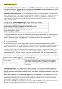 RESUMO DE TRAUMA TORACICO