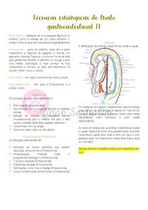Técnicas cirúrgicas do trato gastrointestinal - Parte II