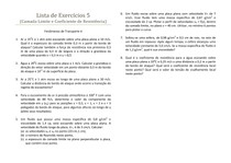 Fenômenos de Transporte - Lista de exercícios 5 resolvida