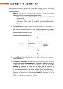 Introdução ao metabolismo - Bases Celulares e Moleculares 2