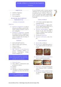 Resumo - Exame Clínico Periodontal