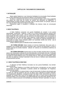 CAPÍTULO 16 - FACILIDADES DE COMUNICAÇÃO