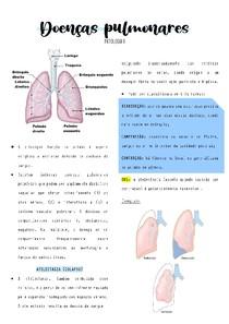 Patologia - Doenças pulmonares resumo digitado