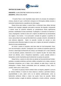 SÍNTESE DE EXAME FISICO lilian