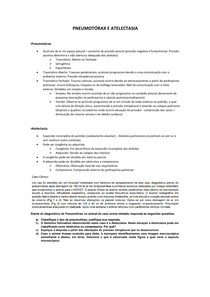 Pneumotórax e Atelectasia