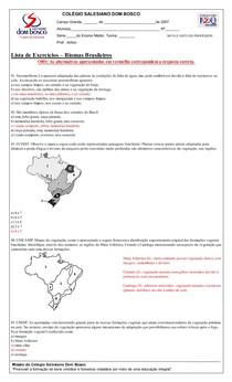 Ciência do Ambiente - Exercícios Biomas Brasileiros