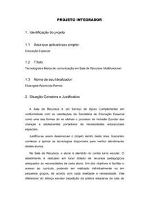 Projeto Integrador Educação Inclusiva E Língua Brasileira De