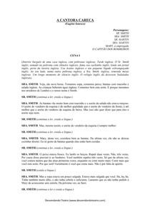 A Cantora Careca - Eugene Ionesco