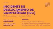 INCIDENTE DE DESLOCAMENTO DE COMPETÊNCIA PARA INSTÂNCIA FEDERAL (MAPA MENTAL)