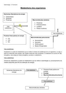 Metabolismo de organismos