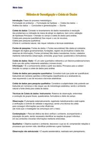 Métodos de Investigação e Coleta de Dados - MS