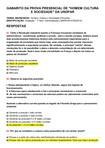 PROVA PRESENCIAL DE HOMEM, CULTURA E SOCIEDADE E GABARITO