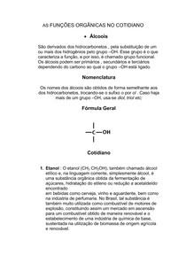 AS FUNÇÕES ORGÂNICAS NO COTIDIANO
